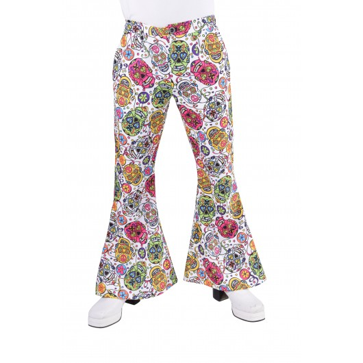 Hippie broek heren mexican skull