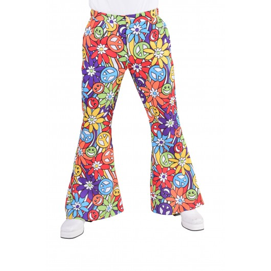 Hippie broek heren hippie smile