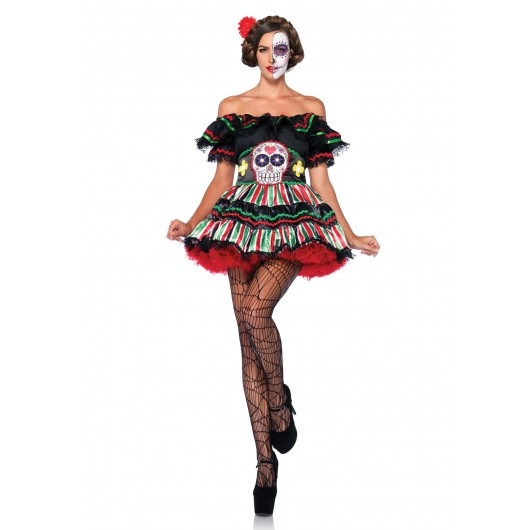 Day Of The Dead Doll kostuum dames