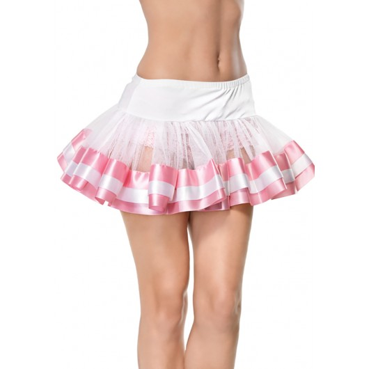 Petticoat satin trimmed wit