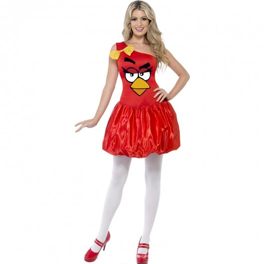 Angry birds kostuum rood dames