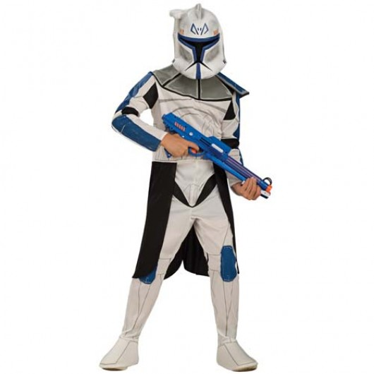 Star Wars Blue Clone Trooper Leader Rex kostuum kind