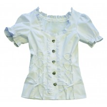 Traditionele blouse wit verkleedkleding dames