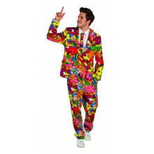 Herenpak Flower Power verkleedkleding heren