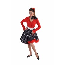 Rock & roll rok dames zwart wit