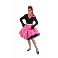 Rock & roll rok dames roze