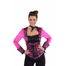 Burlesque top dames roze