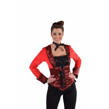 Burlesque top dames rood
