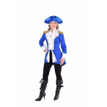 Garde officier mantel dames blauw