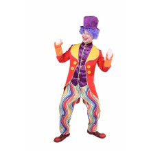Clown jas heren Rainbow