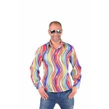 Rainbow waves hemd heren