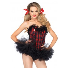 School Girl Corset kostuum dames