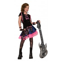 Roze Rock Girl verkleedkleding kind