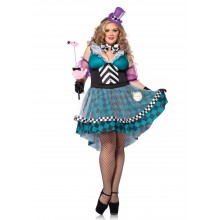 Manic Mad Hatter kostuum dames plus