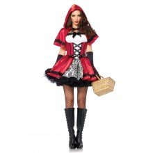 Gothic Red Riding Hood kostuum dames