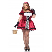 Gothic Red Riding Hood kostuum dames plus