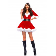 Mrs. Claus Hooded Dress kostuum dames