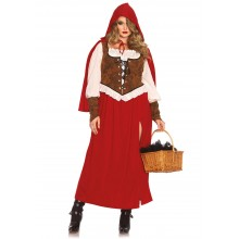 Woodland Red Riding Hood kostuum dames plus