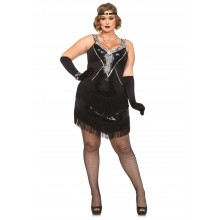 Glamour Flapper kostuum dames plus