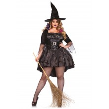 Black Magic Mistress kostuum dames plus