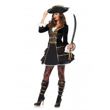 High Seas Pirate Captain kostuum dames
