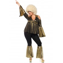 Disco Diva kostuum dames plus