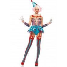 Delightful Circus Clown kostuum dames