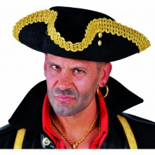 Captain Hook piraat hoed goud