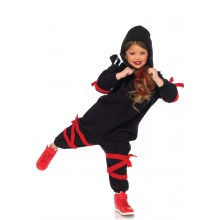 Kids Cozy Ninja Onesie Kostuum Kind