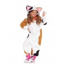 Kids Cozy Calico Cat Onesie Kostuum Kind