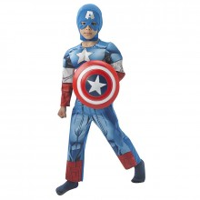 Captain America luxe kostuum kind