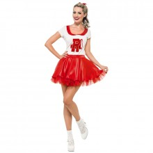 Cheerleader Sandy kostuum dames