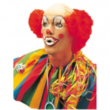 Clown pruik heren rood