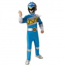 Power Ranger Dino charge blauw deluxe kostuum kind