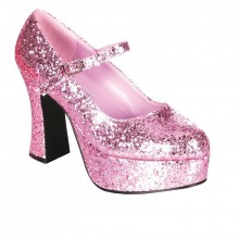 Roze pumps glitter dames